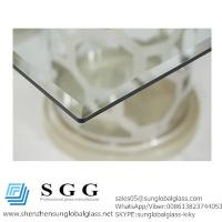 Buy cheap Excellence quality rectangular glass top dining table bevel edge from wholesalers
