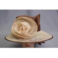 Top quality Brown / Ivor Sinamay Ladies Hats , Spring fancy hats for women for sale