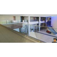 Buy cheap U base channel glass railing with laminated glass aluminum channel for veranda product