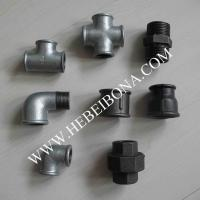 Buy cheap Galvanized and black malleable iron pipe fittings from wholesalers