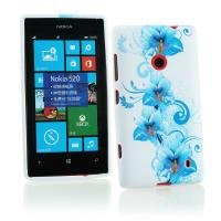 Buy cheap Blue Floral Plastic & Soft Silicone Nokia Mobile Phone Cover , Nokia Lumia 520 Case from wholesalers
