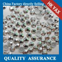 Buy cheap High quality hot fix octagon, korean octagon aluminium hot fix rhinestuds& iron on stud from wholesalers