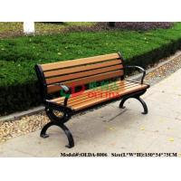 Park Outdoor Patio Bench With Back No Painting , Antisepsis Recycled Plastic Benches