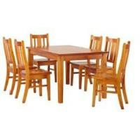 Buy cheap dinning tables and chairs material pine wood from wholesalers