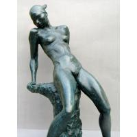 Buy cheap Erotic nude sculpture art deco bronze nude sexy lady figurine TPM-409 from wholesalers