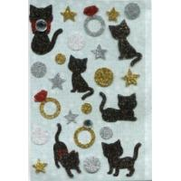 Buy cheap Personalized Cute 3d Glitter Stickers , Beautiful Glitter Cat Stickers from wholesalers