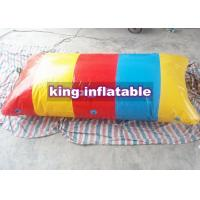 Buy cheap Colorful Strip Inflatable Catapult Blob , Custom PVC Tarpaulin Inflatable Water from wholesalers