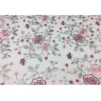 Buy cheap Floral Embroidered Mesh Lace Fabric , Embroidered Tulle Lace Fabric For Wedding Dress from wholesalers