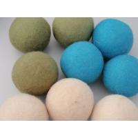Buy cheap custom pacakging 3inch laundry use wool dryer balls bacteria killer wool felt ball for baby clothes from wholesalers