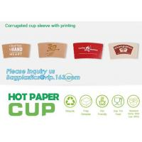 Buy cheap Biodegradable cup sleeve, Corrugated up sleeve with printing, brand logo, hot paper cup,cup sleeve, recyclable sleeve pa from wholesalers