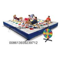 Buy cheap popular kids outdoor Inflatable track for twister game,color dot game for adults from wholesalers