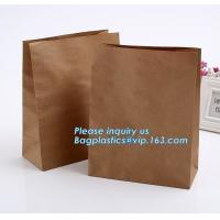 Buy cheap nature brown Kraft bread packaging paper bags,Brand paper bag machine making paper bag paper bread bag, BAGPLASTICS, LTD from wholesalers