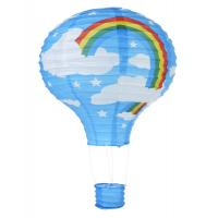 Buy cheap Turquoise Rainbow Hot Air Balloon Paper Lantern from wholesalers