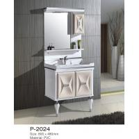 Buy cheap Small / Large Floor Standing Mirrored Bathroom Cabinet One Piece Ceramic Basin from wholesalers