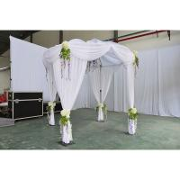 Buy cheap weed pipe bag wedding decoration stage backdrop double round wedding tent pipe and drape fabric backdrop for wedding from wholesalers