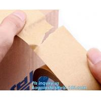 China Water-activated Reinforce Kraft Gummed Paper Tape for Sealing & Strapping,Self adhesive kraft paper gummed tape bagease on sale