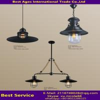 Buy cheap Factory price Large Copper Dome pendant lamp , pot cover shaped Edison Industrial Metal Pendant Light with hemp rope from wholesalers
