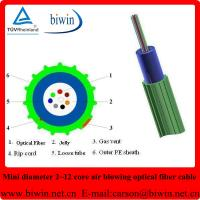 Buy cheap Super Mini Air Blowing 24 Core Fiber Optic Cable from wholesalers