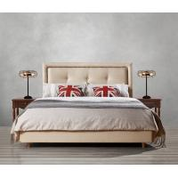 Buy cheap Fabric Upholster padad Headboard Queen Bed Leisure Bedroom Furniture in American design Apartment Bedroom interior fit product