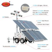 Buy cheap MOT-400-A Trailer Mounted Construction Solar Mobile Tower Light from wholesalers