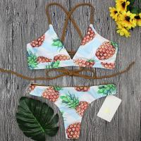 Wholesale and Retail 2017 Women Sexy Pineapple Brazilian Bathing Suit