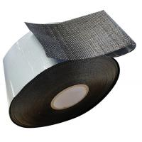 Buy cheap Polypropylene Mesh Membrane Bitumen Wrapping tape PP black  woven fiber tape from wholesalers