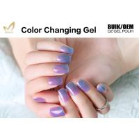 Buy cheap Multi Colored Mood Changing Nail Polish Gel Heat Changing Nail Varnish 2 Minute Dry from wholesalers