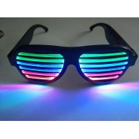 Buy cheap 2019Hot Sales New Style Rechargeable LED Flashing Glasses for Promotion Gift Wear at Rave Concert Rave Party Dancing from wholesalers