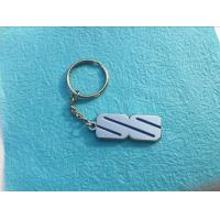 China Custom Metal Keychains Nickel Plating With Simple Geometric Figure on sale