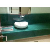Buy cheap Single Sink Jade Polishing Stone Countertops For Restroom Eased Edge from wholesalers