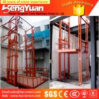 China CE approved guide rail chain cargo lifting equipment on sale