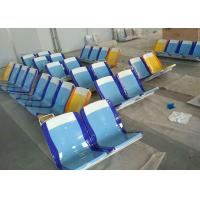 Buy cheap Blue Yellow FRP Body Panels Fiberglass Bench Seat For Subway Coach from wholesalers
