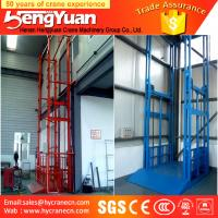 Buy cheap guide rail chain lifting machine/guide rail chain vertical guide rail goods lift from wholesalers