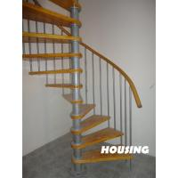 Buy cheap Carbon Steel Custom Spiral Staircases With Solid Wood Tread from wholesalers