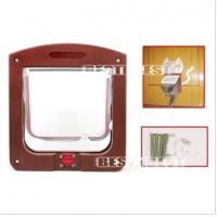Buy cheap 24.4*20.3*3cm 4Way lockable Cat door/Cat flap from wholesalers