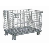 Buy cheap Warehouse Collapsible Steel Wire Mesh Storage Container from wholesalers
