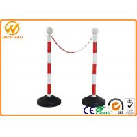 Buy cheap Road Safety Reflective PVC Traffic Delineator Post with Plastic Chain 90cm Height from wholesalers
