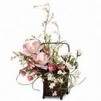 Buy cheap Silk Floral Arrangement with Rose, Violet-silk, Organdy and Yarn from wholesalers