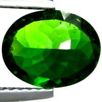 Buy cheap Oval Green Chrome Diopside Gemstone Natural 9 × 7mm For Diopside Rings from wholesalers