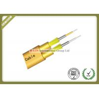 Flat Twin Duplex Armored Indoor Fiber Optic Cable For Connection Network Equipments