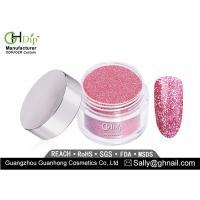 Long Lasting Pink Glitter Nail Dip Powder Light Weight Forever Shine