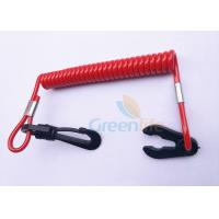 Buy cheap Plastic Watercraft Jet Ski Safety Lanyard Spiral Safety Floating With Hook / Key from wholesalers