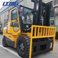 Buy cheap High Mast Manual Diesel Forklift Truck 5 Ton With Cabin And Air Conditioner from wholesalers