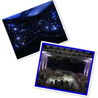 Buy cheap White curtain blackout cloth star led curtain led light black curtain from wholesalers