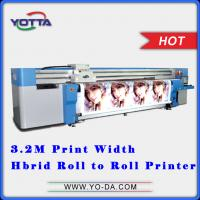 Buy cheap Flex Banner uv printer Inkjet uv flatbed car sticker hybrid printers price from wholesalers