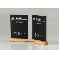 Buy cheap Restaurant Bar Acrylic Chalkboard Writing Display Stand Natural Wood Menu Holders from wholesalers