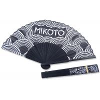 Buy cheap 21cm Printing Hand Held Paper Fans Black And White For Single Advertisement from wholesalers