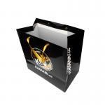 Buy cheap Black Custom Printed Paper Bags Vivid Color Gold Foil Advertising Satin Rope from wholesalers