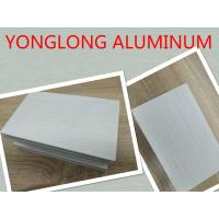 Buy cheap Grey Decorative Wood Finish Aluminium Profiles with Marble Pattern from wholesalers