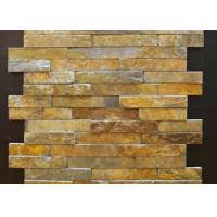 Buy cheap Yellow And Gray Slate Culture Stone Veneer For Flast Wall Cladding Decor from wholesalers